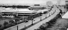 """From a 1960s article:  """"Ayala Avenue is accessible from both Epifanio de los Santos and Buendia Avenues.  Photo taken from the Monterrey Apartments facing west shows ... a part of the Makati Commercial Center, Rizal Theatre, First United Bank and San Miguel-Soriano building.  At the northern side is FGU Building.  Under construction is the Gilarmi aparments."""""""