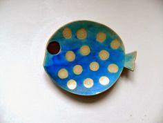 danci ceramics blog www.danci.eu a fish a day challenge #fish #plate #turquoise