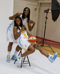 Swin Cash, Sylvia Fowles, Chicago Sky         http://www.tumblr.com/blog/rollcallactionwmaxey