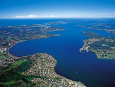 Stunning Lake Macquarie, an hour's drive north of Sydney with your Pocket Yacht on its trailer.