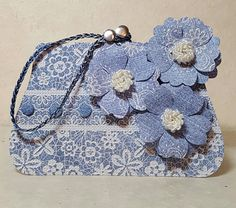 Handbag card designed by Jennifer Kray for Craftwork Cards using Chambray & Lace