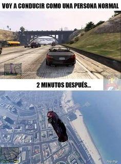 Lo que hacemos todos en GTA → #humorgrafico #imagenesgraciosas #memesenespañol…
