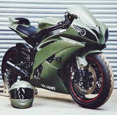 The Green Machine - Yamaha Motorcycle #athletestravel #healthcoachhowie #heaxmobile