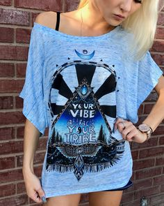 Vibe Tribe Flowy Tee - Electro Threads™