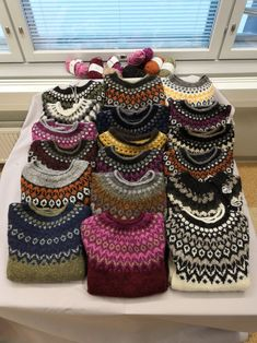 Fair Isle Knitting Patterns, Fair Isle Pattern, Crochet Scarves, Knit Crochet, Icelandic Sweaters, Pullover, Embroidery Designs, Knitwear, Boho
