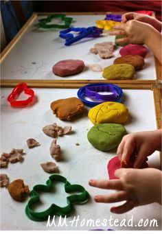 Homemade Sensory Play Dough with Natural DIY Colorings | MM Homestead