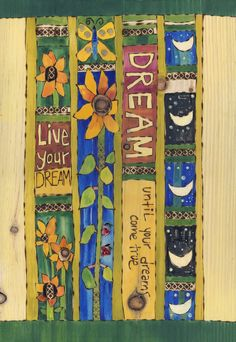 41 Colorful Peace Poles Design Ideas For Your Garden - LuvlyDecor Diy Wood Projects, Art Projects, Embroidery Designs, Vintage Embroidery, Peace Pole, Garden Poles, Pole Art, Fence Art, Painted Sticks