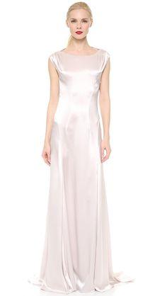 Nina Ricci Satin Cowl Neck Gown $1137