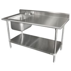 Advance Tabco Free Standing Laundry Sink with Faucet Width: Kitchen Prep Table, Kitchen Work Tables, Kitchen Ideas, Kitchen Sink, Kitchen Design, Kitchen Carts, Kitchen Cabinets, Stainless Steel Kitchen Cart, Deep Sink