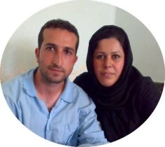 Imprisoned Iranian pastor Youcef Nadarkhani with Fatemah Pasindedih, his wife. Please pray for his release.