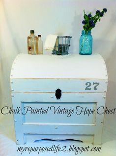 Gorgeous chalk painted vintage chest - DIY tutorial!