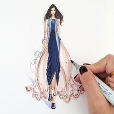 """Learn how I sketched this by viewing the step by step tutorial via @copicmarker in honor of #NYFW! Click the link in my bio to get sketching!…"""