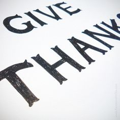 GIVE THANKS ~ Working on some Thanksgiving inspired lettering today! We can't believe the fall holiday is right around the corner (for us Canadians anyway). Mmm, we can practically taste the mashed potatoes!!