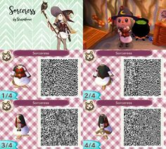 animal crossing new leaf qr code cute sorceress witch dress outfit forest nature acnl design by sturmloewe
