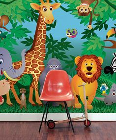 Take a look at this In the Jungle Mural by Brewster Home Fashions on #zulily today!