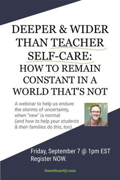 Join Dave Stuart Jr. in this examination of principles & practices to build a successful  school year, despite obstacles & challenges. $10 per person gives you the fruits of thousands of hours of researching, testing, and teaching around this topic. #DaveStuartJr Deep And Wide, Pay What You Want, Certificate Of Completion, Information Overload, Inside Job, Your Teacher, Negative Thoughts, Human Resources, Professional Development