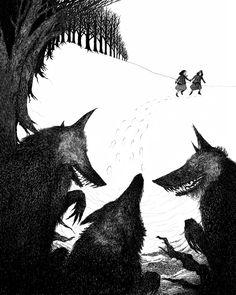 """Rohan Daniel Eason - cover art for """"The Wolves of Willoughby Chase"""", written by Joan Aiken (Random House 2010)"""