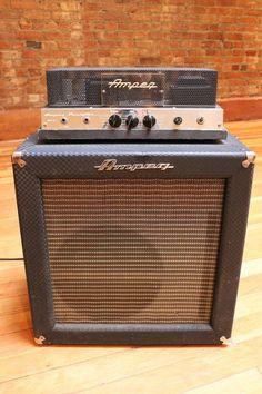ampeg bass amp fliptop vintage