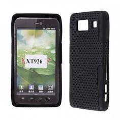 Motorola Droid RAZR HD/ XT926 - Rubberized Hybrid Skin Solid Black Skin with Black Cover - $7.99 #onselz