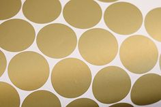 AmazonSmile: Gold Wall Decal Dots (200 Decals)   Easy to Peel Easy to Stick + Safe on Painted Walls   Removable Metallic Vinyl Polka Dot Decor   Round Sticker Large Paper Sheet Set for Nursery Room (Metallic Gold): Baby