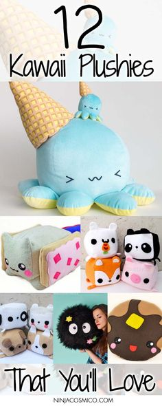 Check these 12 Kawaii Plushies! They are cute, cozy and also fluffy! Perfect for house decoration! Read the article right here: https://ninjacosmico.com/12-kawaii-plushies-that-youll-love/