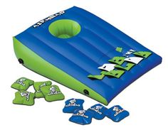 Play the Airhead Lob the Blob Inflatable Cornhole Game at your backyard barbecue or take to it to the lake for some fun in the sun. The classic floating game will test your skill and luck at sinking the Blobs in the hole. Pool Games, Fun Games, Party Games, Cool Pool Floats, Corn Hole Game, Toss Game, Water Balloons, Pool Toys, Swim Shop
