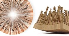 Aurelie Laurent/Petit Jules Photos  -- New Wooden Cityscapes Sculpted with a Bandsaw by James McNabb