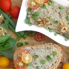 Lentil-Artichoke-Walnut Pâté - a vegan sandwich spread