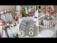 Diy dollar tree floral chandelier aisle pedestal diy wedding diy bridal shower centerpieces vases and serving trays dollar tree items youtube junglespirit Images