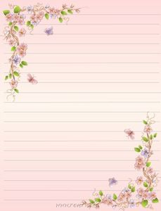 pretty letter writing paper