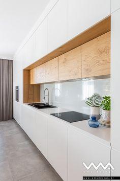 salon Warszawa WMA Design Kitchen Room Design, Home Room Design, Kitchen Cabinet Design, Modern Kitchen Design, Home Decor Kitchen, Home Kitchens, Modern Kitchen Interiors, Modern Kitchen Cabinets, Kitchen Modular