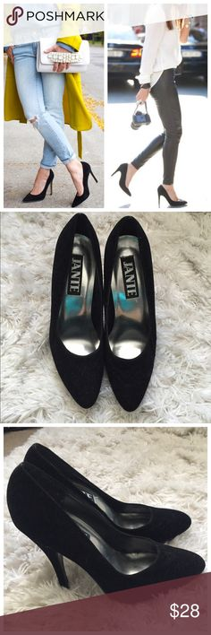 Black Velvet Pumps! Velvet like Material. Great for Fall. Will compliment any outfit. NWOB! Shoes Heels