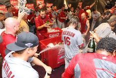 The St. Louis Cardinals celebrate winning the 2012 National League wild card playoff game against the Atlanta Braves at Turner Field.