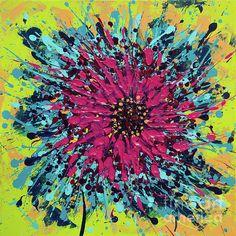 Abstract vibrant colors exploding, original acrylic splash painting by Alexandra Kiczuk. Fine Art America, Vibrant Colors, My Arts, Action, Art Prints, Wall Art, Abstract, Painting, Art Impressions