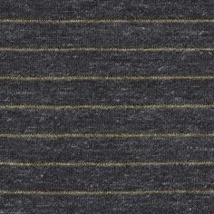 cotton jersey stripes in charcoal/gold