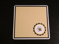Note Cards Blank Bumble Bee Qty 4 invitation thank by PaperStuff4u