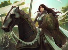 Knight Exemplar - MtG Art