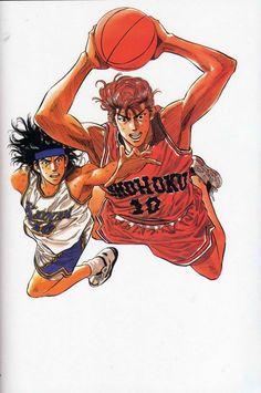 Slam Dunk Render by debbiichan on DeviantArt Manga Anime, Old Anime, Kuroko, Basketball Manga, Basketball Moves, Slam Dunk Manga, Delta Art, Inoue Takehiko, 90s Cartoons
