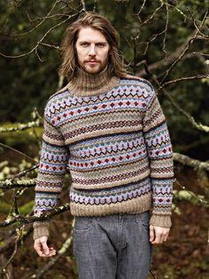 'Youlgrave' men's fairisle sweater from Autumn Knits