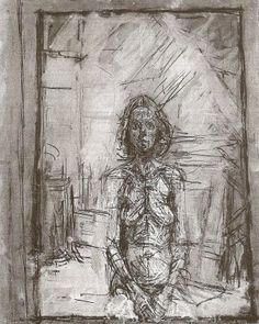 Alberto Giacometti 'Portrait of Annette' 1954 Alberto Giacometti, Giovanni Giacometti, Figure Painting, Figure Drawing, Painting & Drawing, Giacometti Paintings, Figurative Kunst, Art Graphique, Famous Artists