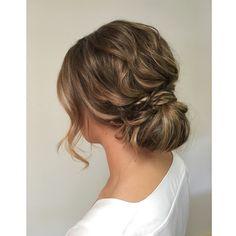 Soft low bun by Kayla Marshall wedding hair