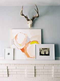 Art above the fireplace