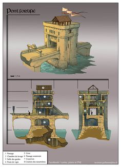 ArtStation - Architectural concepts, Guillaume Tavernier People like Minecraft due to about three uncomplicated points, Fantasy City, Fantasy Castle, Fantasy House, Fantasy Places, Fantasy Map, Medieval Fantasy, Chateau Moyen Age, Building Map, Rpg Map