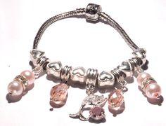 Dolphin bracelet Charm bracelet  Bracelet Pink by JustJewelry4Life
