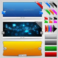 Vector Web Design Elements - Web Elements Vectors