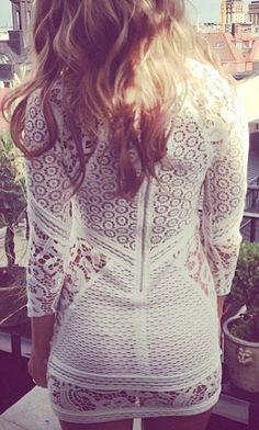 white + lace + dress