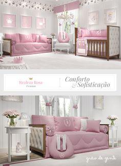 O quarto Realeza Rosa Premium é digno de uma verdadeira princesa!