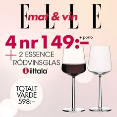 6 enkla drinkar med rosévin   ELLE mat & vin Prosecco, Mojito, Wine Glass, Tableware, Wine, Dinnerware, Tablewares, Dishes, Place Settings