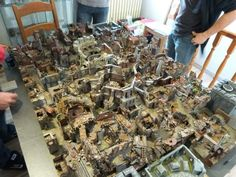 Most Epic Table Full Of Dungeon Terrain Ever Warhammer Rpg
