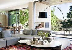 Mid-Century Modern Floor Lamps for Living Room Designs Contemporary Floor Lamps, Modern Floor Lamps, Rustic Contemporary, Rammed Earth Homes, Living Room Flooring, Amazing Spaces, Living Room Designs, Living Spaces, Interior Architecture